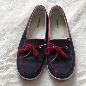 Grasshoppers loafers slip on shoes 8.5 red blue